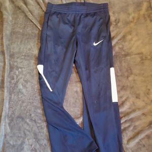 Nike Dri fit navy and white drawstring pants